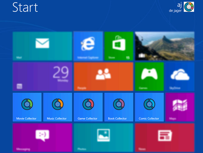 Collectorz.com Software in Windows 8